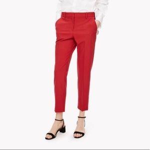 Theory Virginwool Red Pants Sz 0